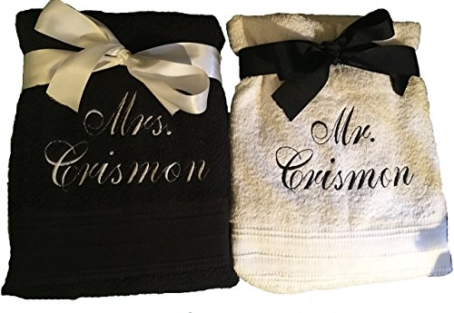 Mr and Mrs Wedding Towels
