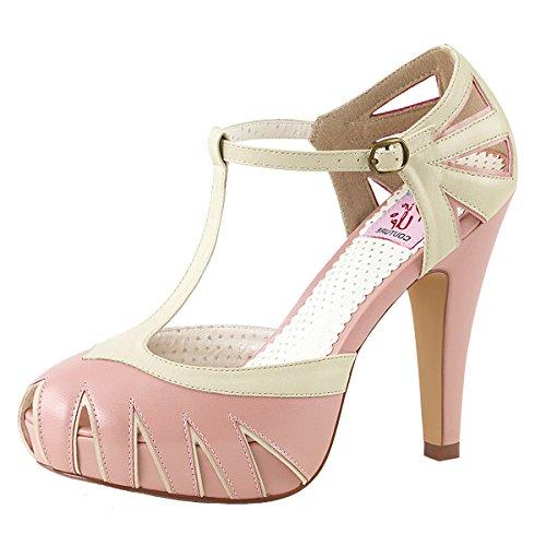 Heels-Perfect - Pantuflas de caña alta Mujer Rosa (Rosa)