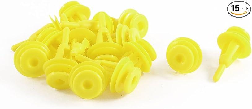 50Pcs Yellow Car Plastic Rivets Door Bumper Fastener Clip 9mm for Chevrolet