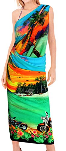 LA LEELA Fraueninsel Kreuzfahrt Strand Sarong und Bademode Badeanzug Bikini Decken grün