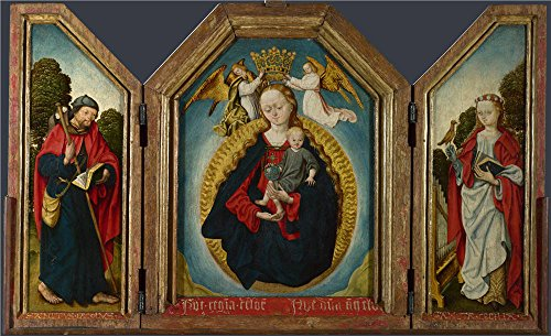 [Oil Painting 'Workshop Of The Master Of The Saint Bartholomew Altarpiece The Virgin And Child In Glory With 2 ' Printing On Perfect Effect Canvas , 8 X 13 Inch / 20 X 33 Cm ,the Best Bar Gallery Art And Home Artwork And Gifts Is This Vivid Art Decorative Prints On Canvas] (Masters Of The Universe Movie Costumes)