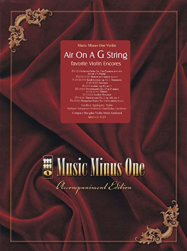 Air On a G String: Favorite Violin Encores: Music Minus One (Music Minus One Violin)