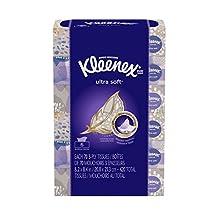 Kleenex Ultra Soft Facial Tissues, Flat Box, 70 Tissues per Flat Box, 6 Packs