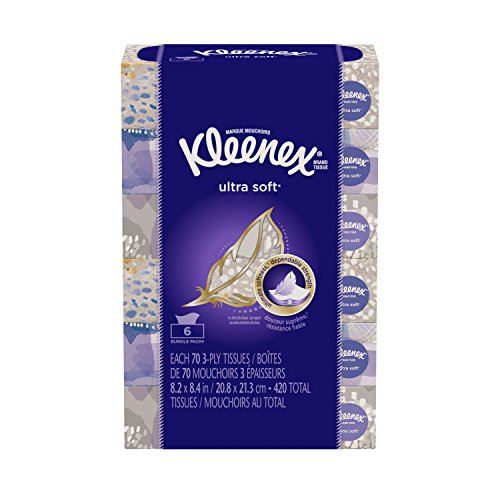 Kleenex Ultra Soft & Strong Facial Tissues,70 Count 8.2 x 8.