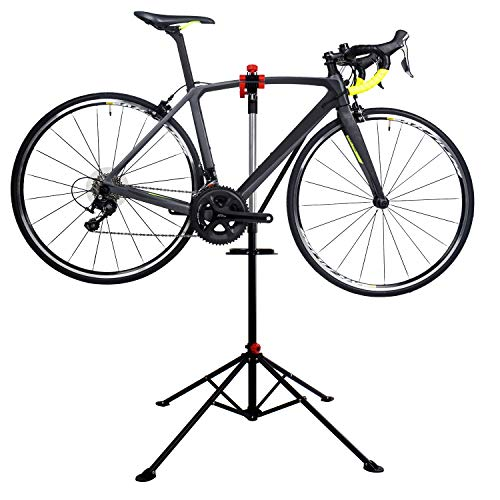 Hromee Portable Pro Mechanic Bike Repair Stand,Adjustable Height Bicycle Maintenance Rack Workstand With Tool Tray by Hromee (Image #6)