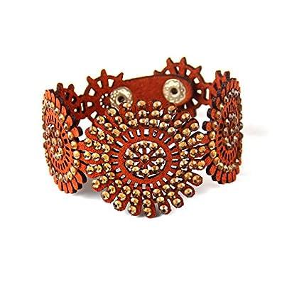 ZUOZUO Leather Wristband Vintage Handmade Crystal Bracelet Bracelet Jewelry Item Charm Bracelet Female Estimated Price £17.99 -