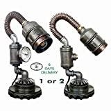 Bedside reading lamps 6 DAY DELIVERY Victorian lamps Industrial light Industrial metal table light Steampunk edison Pipe lighting industrial design lamp Amazon gifts Machine age lamp