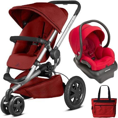 Quinny - Buzz Xtra Travel System with Bag - Red Rumor by Quinny