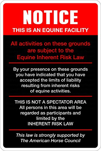 (StickerPirate Notice This is an Equine Facility 8
