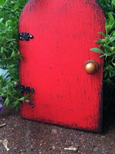 Fairy Door, Fairy Garden, Red, Garden Decor, Birthday Gift, HANDMADE and READY TO SHIP!