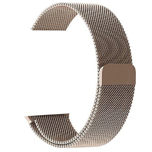 Walcase Fully Magnetic Closure Clasp Mesh Loop Milanese Stainless Steel iWatch Band for Apple Watch Series 2 Series 1 Sport and Edition - 38mm Gold