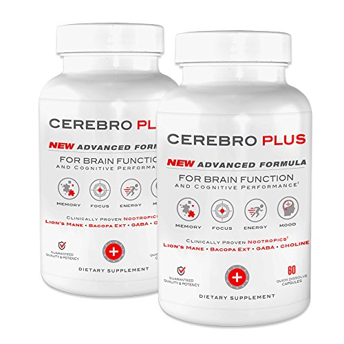 Cerebro Plus – Brain Health and Cognitive Performance Enhancing Supplement | 2-Month Supply (120 Ct) Review