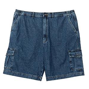 Full Blue Big Men's Denim Cargo Short