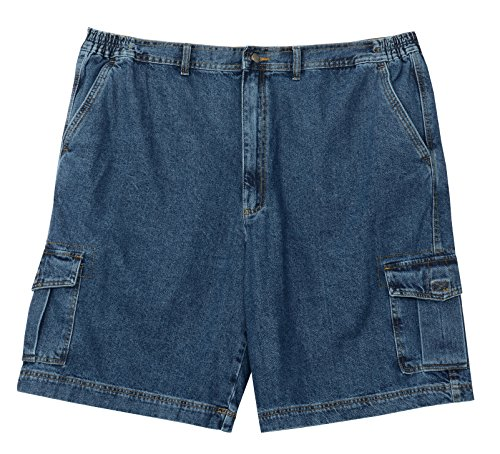 Full Blue Denim Cargo Short