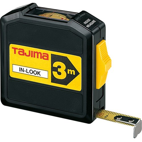 Tajima INL30MY'In-Look' Measuring Tape, Black/Yellow