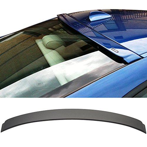 Roof Spoiler Fits 2007-2013 BMW E92 3 Series | AC-S Style ABS Painted Matte Black Rear Wind Visor Spoiler Wing By IKON MOTORSPORTS | 2008 2009 2010 2011 -