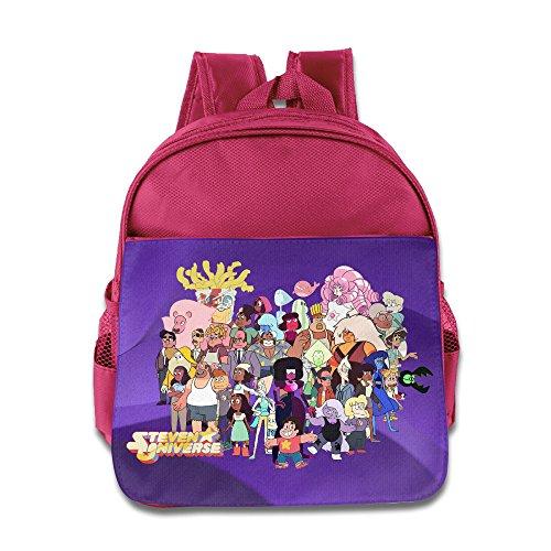 Kids Steven Universe Cartoon All Together School Bag (2 Color:Pink Blue)]()