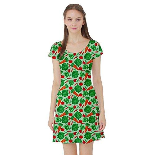 cowcow-light-green-vegetable-short-sleeve-skater-dress-light-green-m