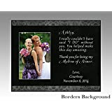 Matron of Honor Maid of Honor personalized wedding frame wedding party gift