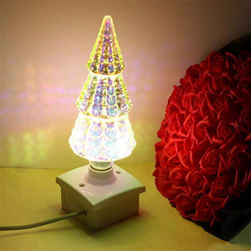 3D Fireworks Light,Decorative Bulb Edison Classic 3D Bulb, Firework E27 Show Bulb LED Novelty Light Romantic Lamp for Home, Cafe, Bar, Party, Wedding, Show, KTV, Bistro, Ornament Store