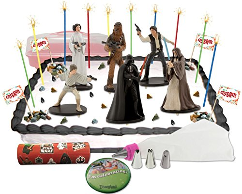 Disney Star Wars A New Hope Deluxe Cake / Cupcake Topper Decorating Kit (Han Solo Costume Diy)