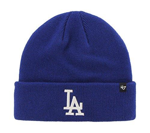 MLB Los Angeles Dodgers '47 Brand Cuff Knit Hat, One Size, (Team Knit Cap)