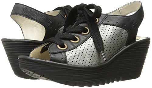 FLY London Women's Yuta617fly Platform Sandal, Black/Lead Mousse/Borgogna, 40 EU/9-9.5 M US by FLY London (Image #6)