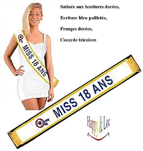 ECHARPE MISS - ANNIVERSAIRE 18 ANS  Amazon.fr  Jeux et Jouets 1f4d219a710