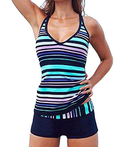 Eternatastic Stripes Tankini Swimwear Swimsuit