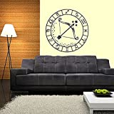 Wall Decals Zodiac Disc Crossbow Decal Vinyl Sticker Window Bedroom Hall Home Decor Dorm Interior Design Living Room Kitchen Murals MN603