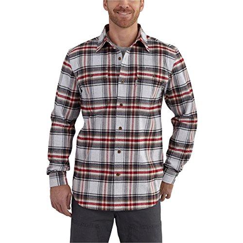 Carhartt Men's Hubbard Plaid Shirt Shadow Button-up - Plaid Shirt Shadow