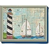 Creative Tops Sea View Beanbag Cushion Lap Tray, Multi-Colour by Creative Tops