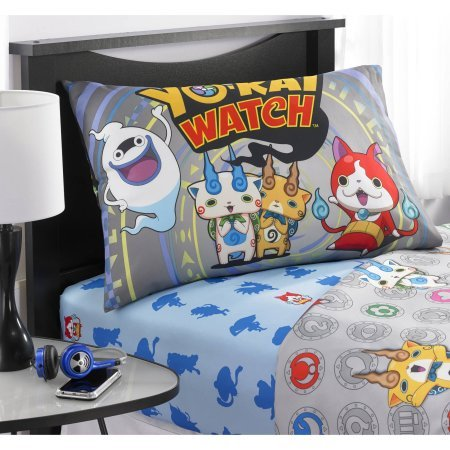 Yokai Watch Watch This Polyester Sheet Set, Made of 100-Percent Polyester (Twin) by Yokai Watch
