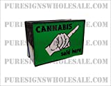 Handmade LED ''Cannabis Sold Here'' Sign