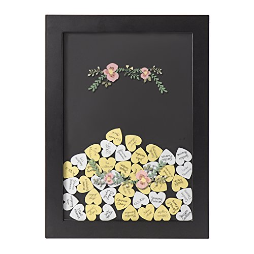 Cathy's Concepts Floral Heart Drop Guestbook, Black by Cathy's Concepts