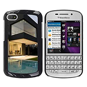 LECELL -- Funda protectora / Cubierta / Piel For BlackBerry Q10 -- Architecture Modern Pool House --