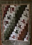Handwoven Tapestry Wall Hanging, 100% Wool, Natural Dyes Browns and Tans
