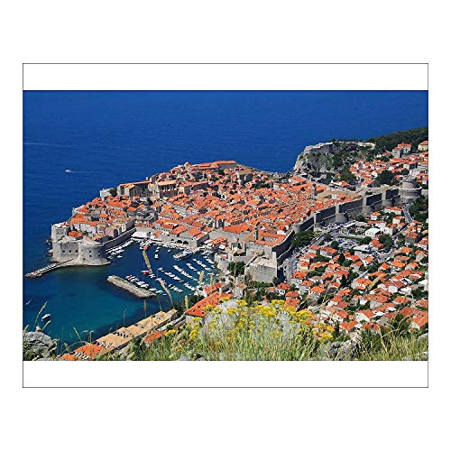 Media Storehouse 10x8 Print of View of Old Town, The Walled City of Dubrovnik, UNESCO World Heritage Site (13413613)