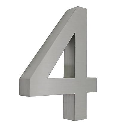 HENGMEI Números casa 304 Acero Inoxidable Número Cromado ...