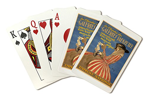 Galeries Lafayette Vintage Poster (artist: Jean Gabriel Domergue) France c. 1920 (Playing Card Deck - 52 Card Poker Size with Jokers)