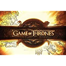 """Game Of Thrones - TV Show Poster (Logo & Map) (Size: 36"""" x 24"""")"""