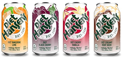 Diet Hansens Soda Variety Pack  12 Ounce  Pack Of 24