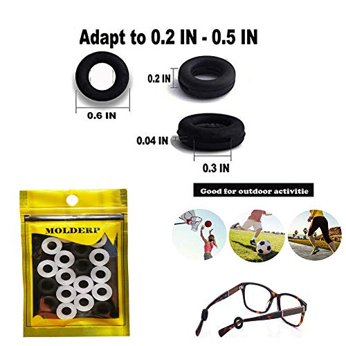 ad32eb3fe8b MOLDERP Silicone Eyeglasses Temple Tips Sleeve - Import It All