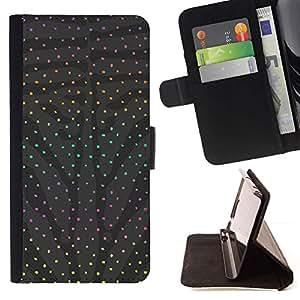 Momo Phone Case / Flip Funda de Cuero Case Cover - Modelo de punto gris abstracto del arco iris - Samsung Galaxy S5 V SM-G900