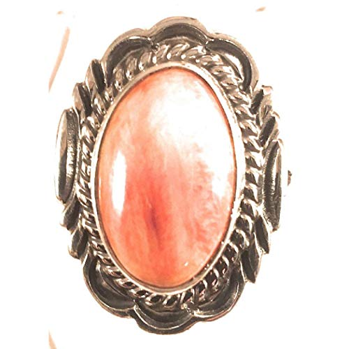 Navajo Spiny Oyster Sterling Silver Ring Size 7 from Nizhoni Traders LLC