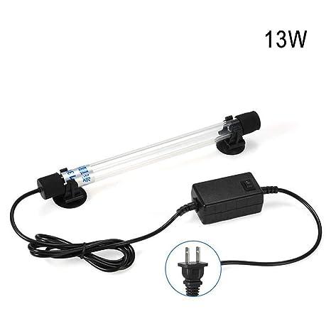 Majome Acuario UV esterilizador luz Sumergible Agua Limpia la lámpara para Estanque de Peces Estanque US