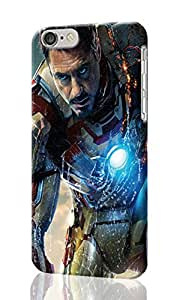 Iron Man 3 Pattern Image - Protective 3d Rough Case Cover - Hard Plastic 3d Case - For iphone 4 4s -