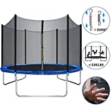 Trampoline for Kids - 14 12 10FT Trampoline Outdoor Backyard Trampoline with Safety Enclosure Net Bounding Bed Spring Pad Ladder,Exercise Gym Fitness Trampoline Round Jumping Table for Kids Adults