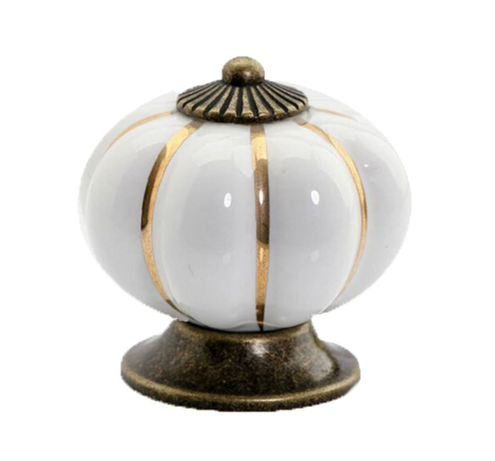 Amazon.com: Pumpkin Ceramic Cabinet Drawer Door Pull Knobs Handle ...