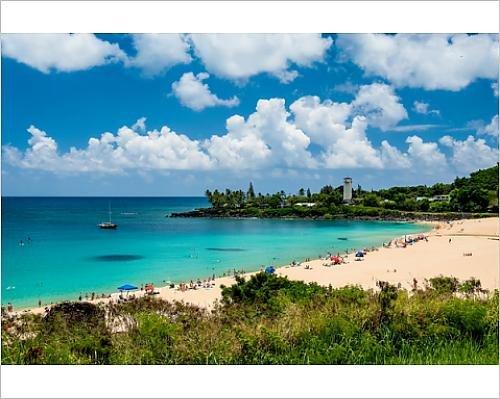 Photographic Print of Waimea Bay, North Shore Oahu, Hawaii,
